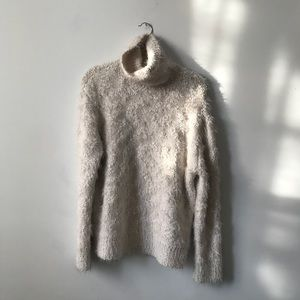 Fuzzy Zara Turtleneck Sweater